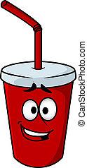 Cartoon takeaway soda