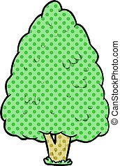 cartoon tall tree