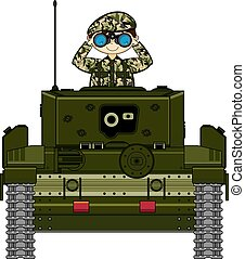 Cartoon Tank and Soldier