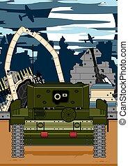 Cartoon Tank Scene