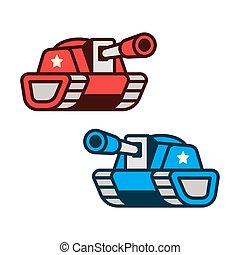 Cartoon tanks illustration