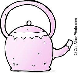 cartoon tea pot
