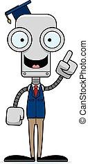 Cartoon Teacher Robot Idea