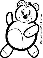 Cartoon Teddy Bear for Coloring