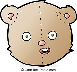 cartoon teddy bear head