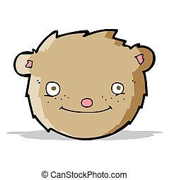 cartoon teddy bear head