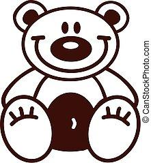 Cartoon teddy bear outline