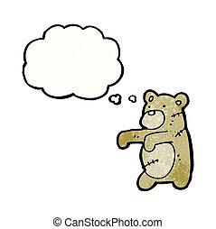 cartoon teddy bear stitched up