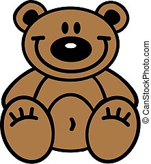 Cartoon teddy bear