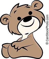 Cartoon teddy bear vector illustration for children