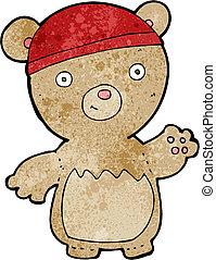 cartoon teddy bear wearing hat