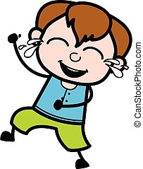 Cartoon Teen Boy Laughing