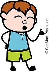 Cartoon Teen Boy Speaking