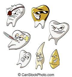 Cartoon Teeth Collection