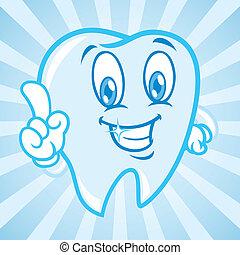 cartoon teeth with background