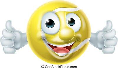 Cartoon Tennis Ball Man