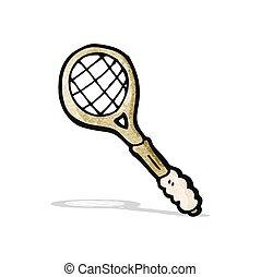 cartoon tennis racket