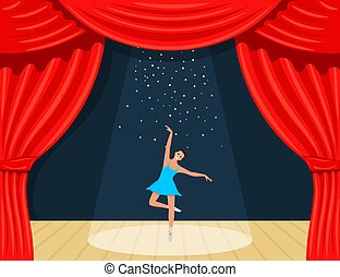 Flowing Stars With Glitter Over Pink Curtains Background