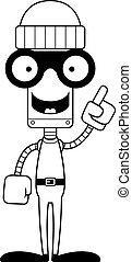 Cartoon Thief Robot Idea