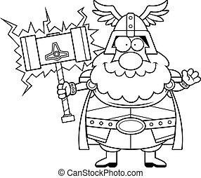 Cartoon Thor Waving