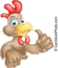 Cartoon Thumbs Up Chicken