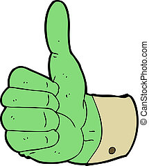 cartoon thumbs up symbol