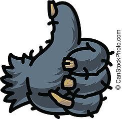 Cartoon Thumbs Up symbol, vector Eps8 illustration