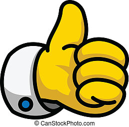 Cartoon Thumbs Up symbol, vector Eps8 illustration - Cartoon...