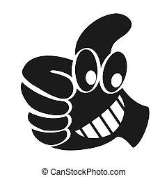 cartoon thumbs up