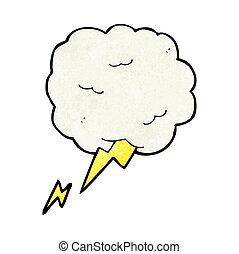 cartoon thundercloud symbol