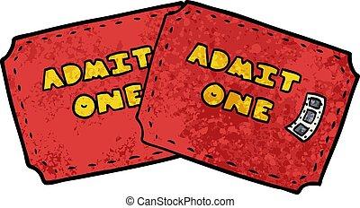 cartoon tickets