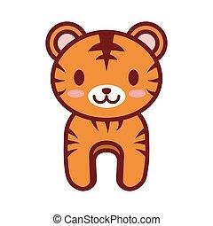 cartoon tiger animal image