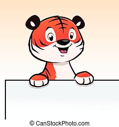 Cartoon Tiger Cub Frame Border - Cute cartoon tiger cub for ...