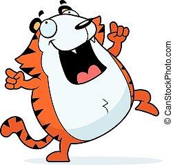 Cartoon Tiger Dancing