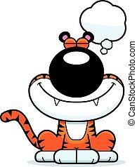 Cartoon Tiger Dreaming
