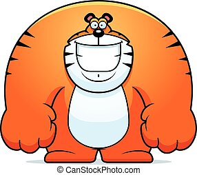 Cartoon Tiger Smiling