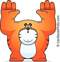 Cartoon Tiger Surrender