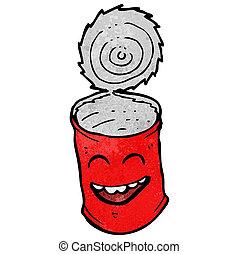 cartoon tin can