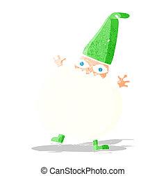 cartoon tiny santa