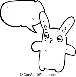cartoon tired bunny rabbit