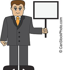 Cartoon tired businessman