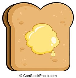 Toast Bread Slice With Butter