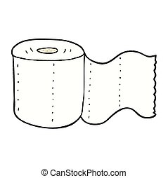 cartoon toilet paper - freehand drawn cartoon toilet paper