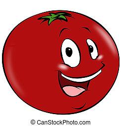 Cartoon Tomato - A happy cartoon tomato. A healthy addition ...