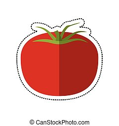 cartoon tomato vegetable healthy icon