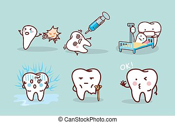 cartoon tooth cavity