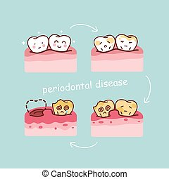 cartoon tooth periodontal disease, great for health dental...