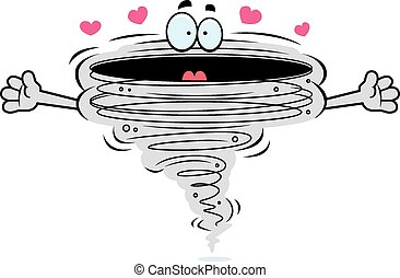 Cartoon Tornado Hug - A cartoon illustration of a tornado ...