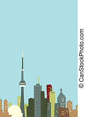 Cartoon Toronto Skyline