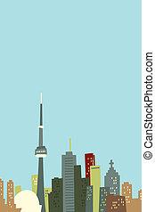 Cartoon Toronto Skyline